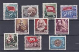 DDR Kleine Verzameling 1953 Nr 80/89 *, Zeer Mooi Lot Krt 4181 - Collezioni (senza Album)