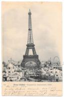 Cpa: 75 PARIS Exposition Unverselle 1900 - La Tour Eiffel  1902 N° 62 (précurseur) - Exposiciones