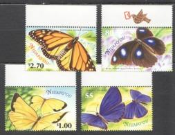 B426 2000 NIUAFO'OU FAUNA INSECTS BUTTERFLIES #367-70 SET MNH - Papillons
