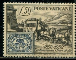 DK0927 Vatican 1952 Stamp Hundred Years Ticket In The Ticket Carriage 1V MNH - Unused Stamps