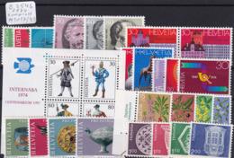 Schweiz 1974, Jahrgang Komplett (B.2546) - Switzerland