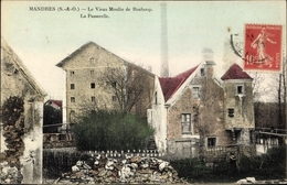 Cp Mandres Val De Marne, Vieux Moulin De Rochoop, La Passerelle - Francia