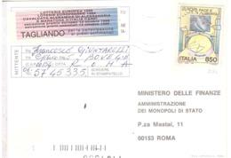 1995 £850 EUROPA SU CARTOLINA LOTTERIA NAZIONALE - Europa-CEPT