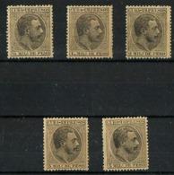 Cuba Española Nº 89/93 Nuevos. Cat.6,70€ - Cuba (1874-1898)