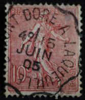 SEMEUSE LIGNEE N° 129  O ( .AMBULANT ).LE MONT DORE A LAQUEUILLE  15 JUIN 1905 - 1903-60 Semeuse Lignée