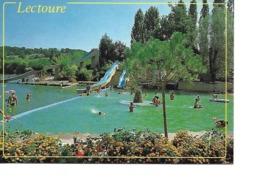 32 LECTOURE Cpm Lac Des Trois Vallées Centre De Loisirs Et De Détente Camping Piscine Voile Baignade Et Toboggan - Lectoure
