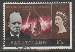Basutoland 1966 The First Anniversary Of The Death Of Winston Spencer Churchill  10 C Multicoloured SW 101 O Used - Basutoland (1933-1966)