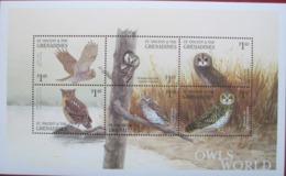 Grenadines  2001  Birds    Owls  M/S MNH - Hiboux & Chouettes