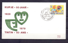 1944 KUIFJE TINTIN FDC 1979 - FDC