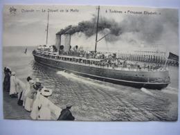 """Bateau / Ostende - Oostende / Départ De La Malle """"Pricesse Elisabeth"""" - Paquebots"""