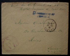 Moulins Engilbert Hospice Arrondissement De Château Chinon (Nièvre) Hôpital 41 Nevers 1916 L.A.C - WW I