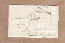 LOIR ET CHER - LETTRE DE VENDÔME POUR COUTURE , MARQUE POSTALE 40 VENDOME + TAXE - 1825 - 1801-1848: Voorlopers XIX