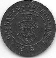 *notgeld Nurtlingen 10 Pfennig  1918 Fe  386.2b - [ 2] 1871-1918 : Empire Allemand