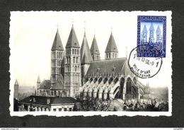 BELGIQUE - BELGIE - Carte MAXIMUM 1956 - KUNSTSTAD - TOURNAI - La Cathédrale - Les Cinq Clochers - Maximum Cards