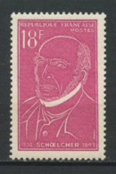 FRANCE 1957 N° 1092 ** Neuf MNH Superbe C 0,80 € Victor Schoelcher Politique Fir Abolir L'esclavage - France
