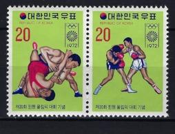 1972 COREA DEL SUR - MICHEL 847/848 MNH** NUEVOS SIN FIJASELLOS JJOO JUEGOS OLÍMPICOS MUNICH '72 BOXEO LUCHA LIBRE - Corea Del Sur