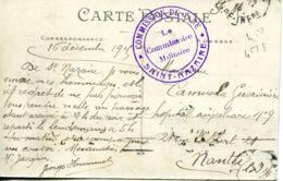 N°4420 -cachet Commission De  Gare -Saint Nazaire- - Guerra De 1914-18