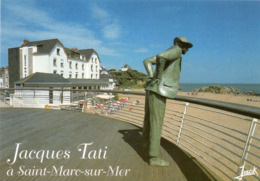 """SAINT MARC SUR MER - STATUE DE JACQUES TATI DEVANT L'HOTEL DE LA PLAGE OU FUT TOURNE LE FILM """" LES VACANCES DE M.HULOT """" - Frankreich"""