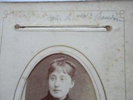 """CDV ALLIER  """" Soeur De Mme BAUDOIR  FROBERT """" Photo CHARDONNET VICHY Sortie D'un Album Provenant De CUSSET - Photos"""