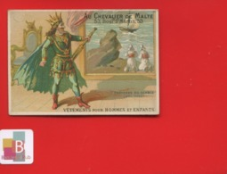 Rare Chromo Calendrier Semestriel 1878 Chevalier Malte  Romanet 7 Châteaux Diable  Prologue Roi Navire Mer - Chromo