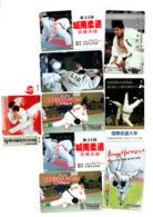 JUDO Lot De 9 Télécartes Japonaises - Sport