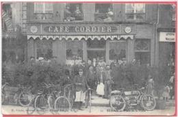 08 . SEDAN - Café CORDIER - PLACE DE LA HALLE  1907 - Sedan