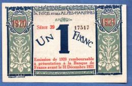 Nice -  1 Franc  -  état SPL - Bons & Nécessité