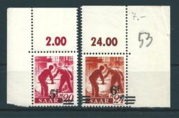 Saar MiNr. 232, 233 ** Bogenecken  (r14) - 1920-35 League Of Nations