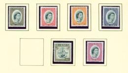 GRENADA - 1964 Definitives Watermark Mult St Edwards Crown CA Set Unmounted/Never Hinged Mint - Grenada (...-1974)