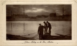 SALMONS FISHING ON THE DEE, ABERDEEN,  REAL PHOTO - Pesca