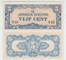 Netherlands Indies 5 Cent 1942 Pick 120a UNC - Niederlande