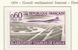 PIA - FRANCIA - 1974 : Grandi Realizzazioni Francesi - Aeroporto Charles De Gaulle - (Yv 1787) - Aerei