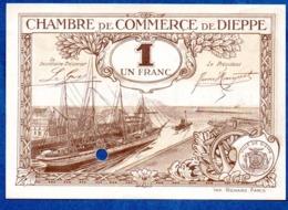 Dieppe -  1 Franc  -  état Neuf  -  Annulé - Bons & Nécessité
