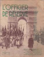 L' OFFICIER De RESERVE,,,, REVUE  MENSUELLE De L'  UNION  NATIONALE  Des OFFICIERS De RESERVE  ,,,,mai 1938 - Riviste & Giornali