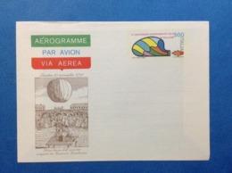 1983 ITALIA AEROGRAMMA POSTALE NUOVO NEW MNH** ESPERIMENTO VOLO IN PALLONE 500 LIRE - Entiers Postaux