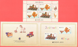 "Moldova 2015 ""Europa-CEPT 2015"" ""Old Toys"" Booklet.Quality:100% - Europa-CEPT"