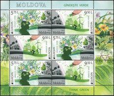 "Moldova 2016 ""EUROPA CEPT.Think Green"" MS Quality:100% - Europa-CEPT"
