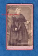 Photo Ancienne CDV Avant 1900 - REDON - Portrait D'une Femme Avec Coiffe - Folklore Breton - A. Bouteloup - Bretagne - Antiche (ante 1900)