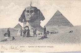 Cairo - Shinx & Cheopspyramide - Animiert - 1904    (A-122-190303) - Pyramids