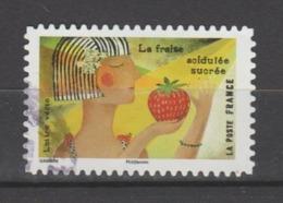 "FRANCE / 2017 / Y&T N° AA 1455 : ""Le Goût"" (Fraise : Acidulée/sucrée) - Choisi - Cachet Rond - KlebeBriefmarken"