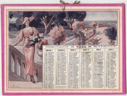 Calendrier 1934 / Femmes élégantes / Dessins Signé J.L. BEUZON - Calendarios