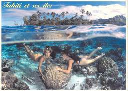 @ Polynésie FrançaiseTAHITI Et Ses ILES  Polynesians Naiads Naïades Polynésiennes (4) (nu Nue Nus Corail)T.SYLVAIN 1254 - Polynésie Française