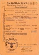 LAISSER PASSER OUEST N° VI 432.715 DE PARIS A PERPIGNAN 1 FEVRIER 1942 AU 1 AVRIL 1942 POLIZE IPRAFEKTUR - 1939-45