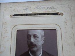 """CDV ALLIER """" M. MONGON """" Photo CHARDONNET VICHY  Sortie D'un Album Provenant De CUSSET - Ancianas (antes De 1900)"""