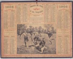 Calendrier 1906  Postes Et Télégraphes / Partie De Foot-Ball - Calendari