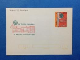 1984 ITALIA BIGLIETTO POSTALE NUOVO MNH** FIERA DI ROMA - Entiers Postaux