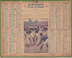 Calendrier 1932  Postes Et Télégraphes / Match De Rugby (Dessin Signé / J.L. Beuzon) - Calendriers