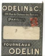 PERFORE O.C. ODELIN Et Cie PARIS Sur 10c Semeuse Enveloppe à Fenêtre Avec Son Courrier 1924. Fourneaux ROBUR  ..G - Francia