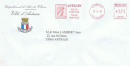 35 - Ville D'ANTRAIN - EMA Correspondante - Entiers Postaux