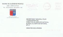 44 - MAIRIE DE GUEMENE-PENFAO - EMA Correspondante - Entiers Postaux